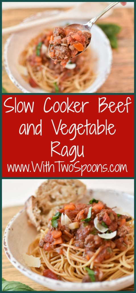 Slow Cooker Beef and Vegetable Ragu