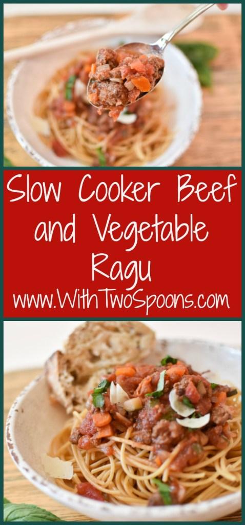 Slow Cooker Beef and Vegetable Ragu