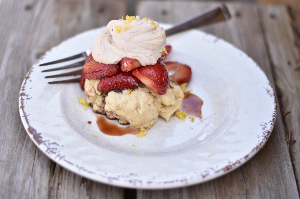 Balsamic Strawberry Lemon Shortcake
