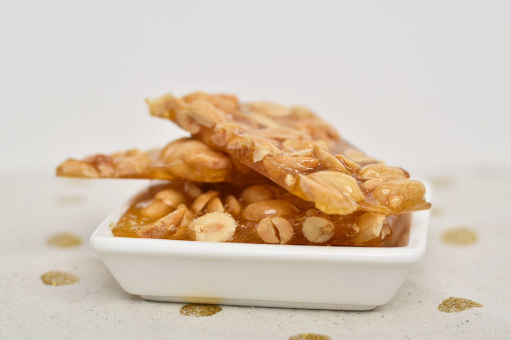 Salted Peanut Brittle with A Hint of Lime