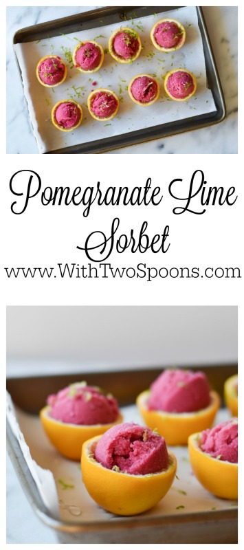 Pomegranate Lime Sorbet
