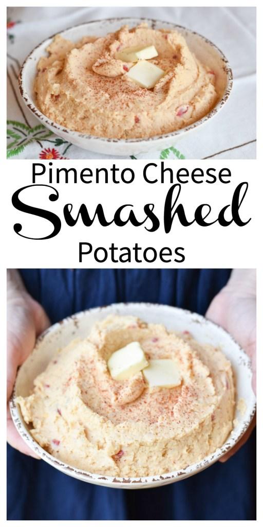 Pimento Cheese Smashed Potatoes