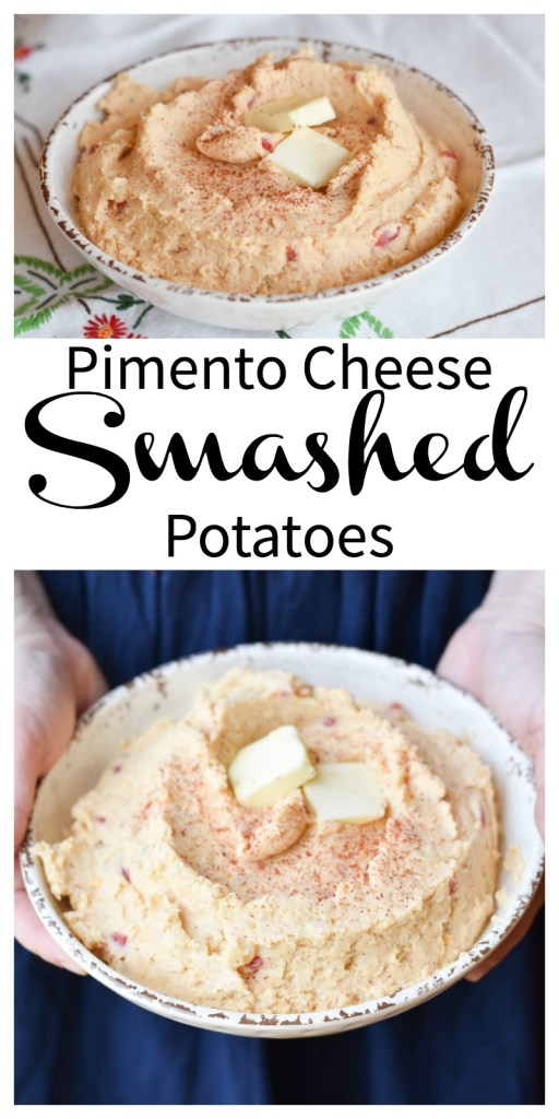 Pimento Cheese Smashed Potatoes