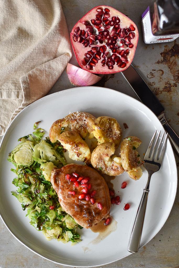 Pomegranate White Balsamic Pork