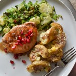 Pork Chops with Pomegranate White Balsamic Pan Sauce