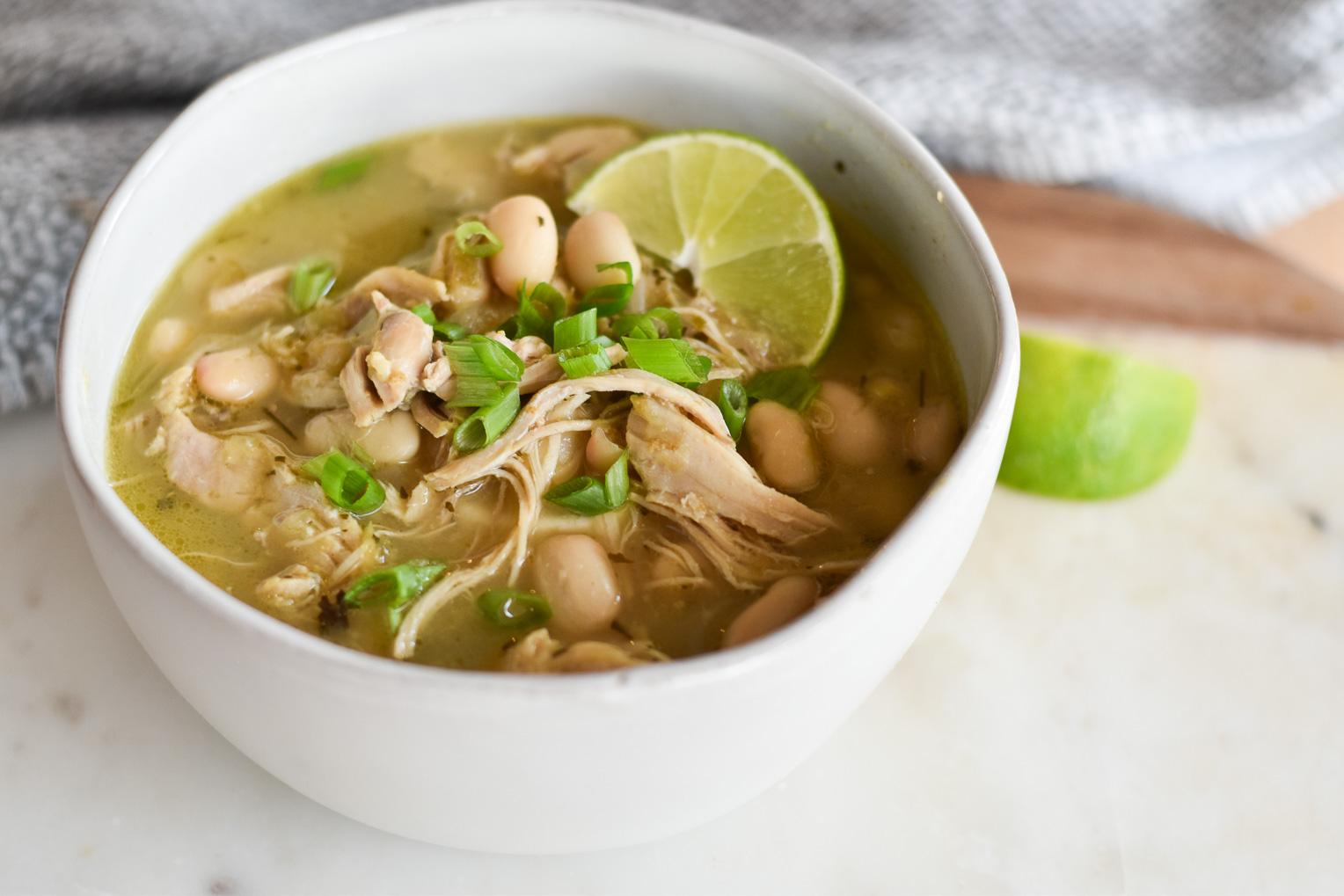 InstantPot Salsa Verde Chicken Soup