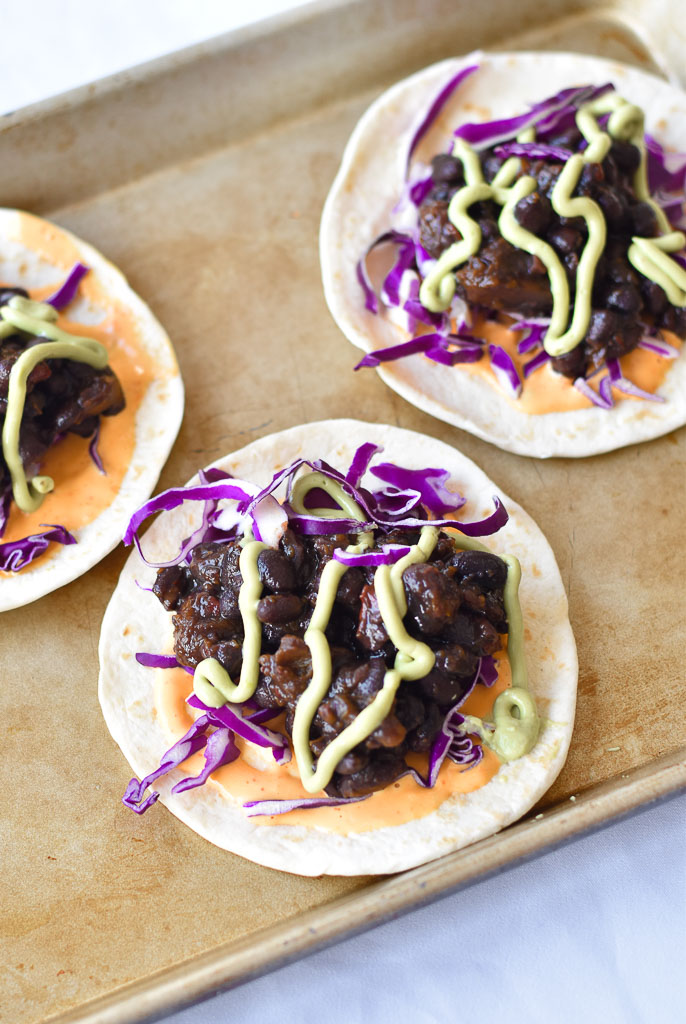 Instant Pot Black Bean Tacos vertical