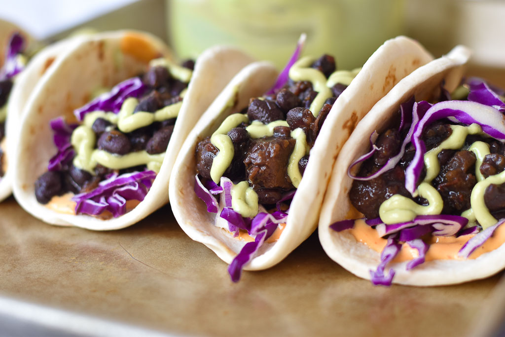 Instant Pot Black Bean Tacos close up