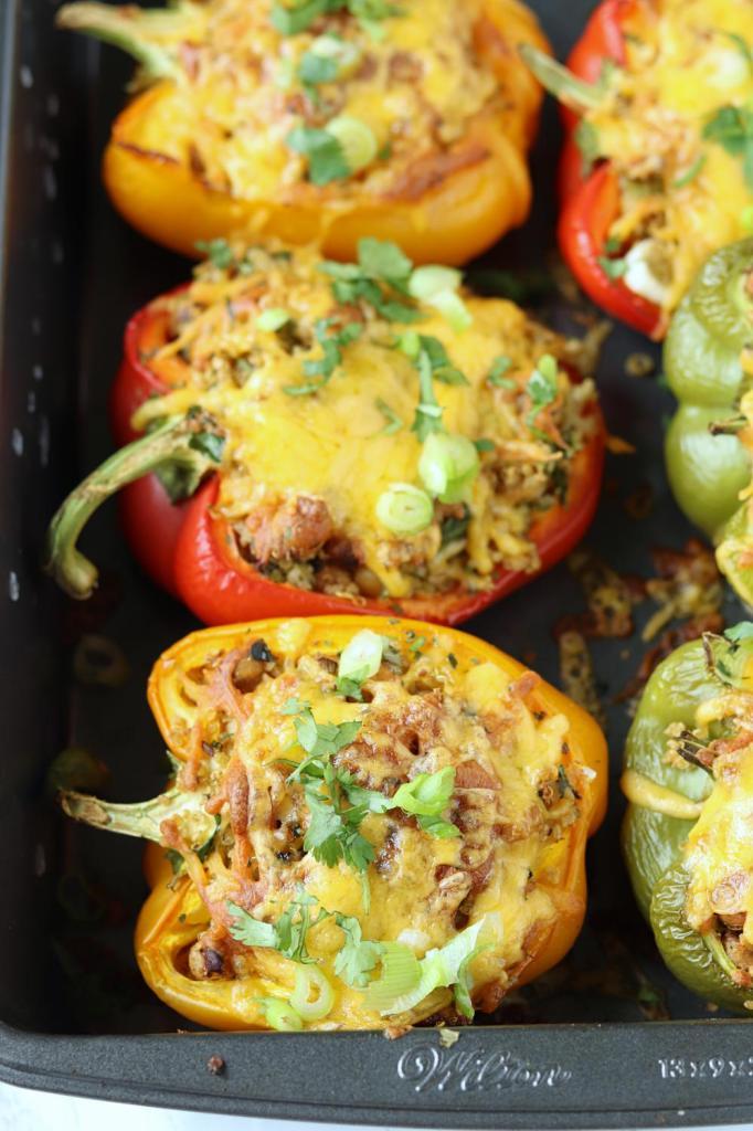 Quinoa Recipe Round Up Quinoa Stuffed Peppers