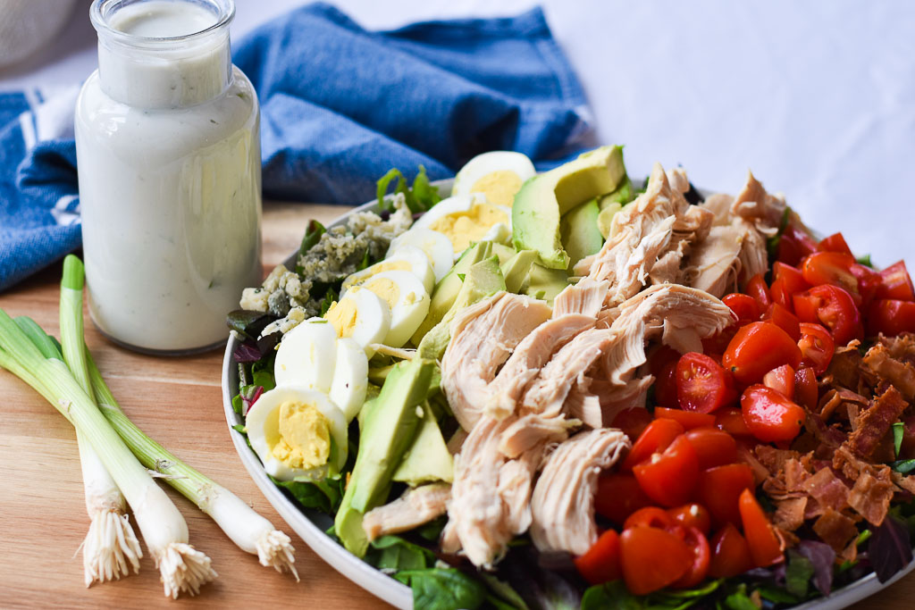 Cobb Salad with Creamy Gorgonzola Dressing