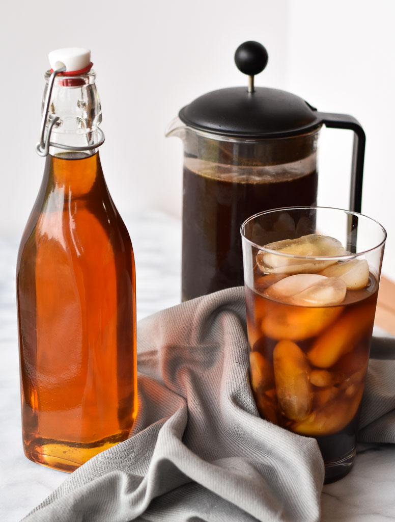 This Caramel Coffee Syrup will elevate your cold press