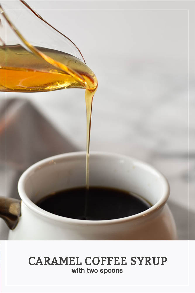 Caramel Coffee Syrup long pinterest form