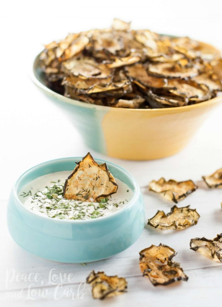 Garlic Dill Baked Cucumber Chips