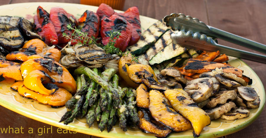 Grilled Vegetable Marinade by What a Girl Eats