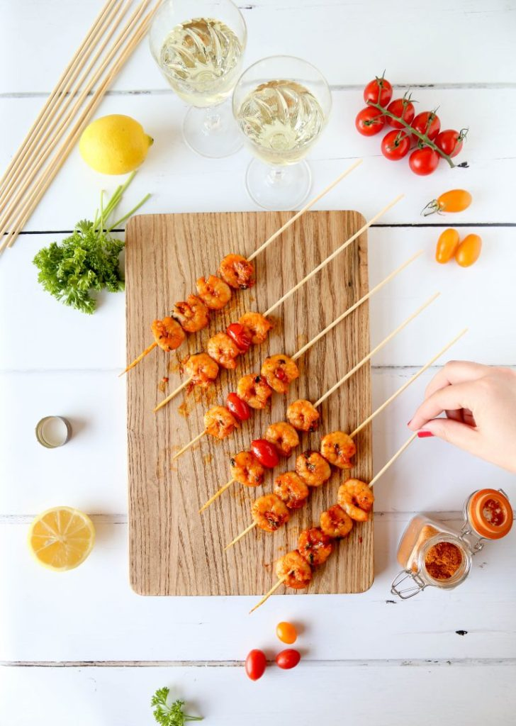Piri Piri King Prawn Skewers by Little Sunny Kitchen