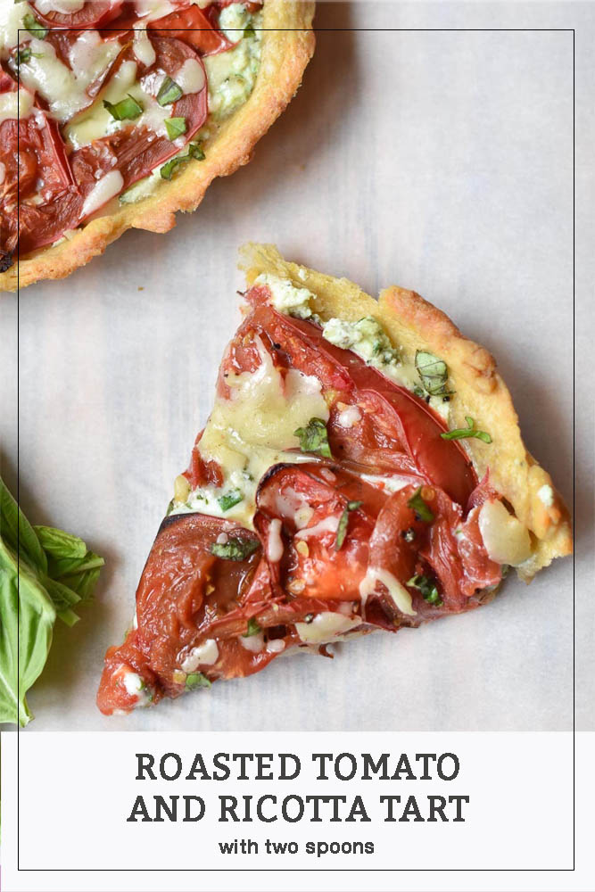 Roasted Tomato and Ricotta Tart Pinterest Long Pin