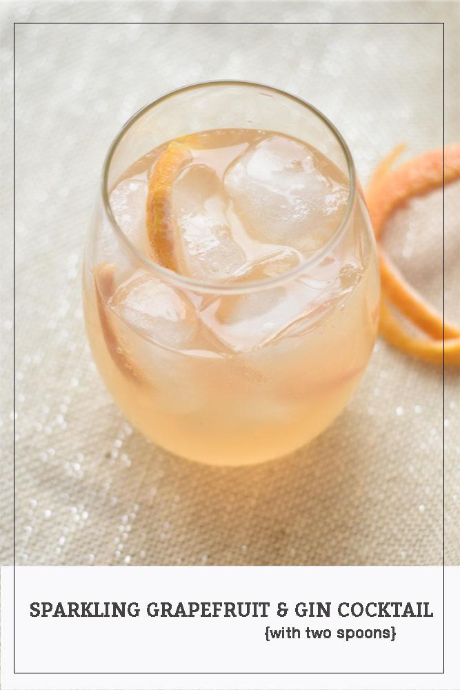 Sparkling Grapefruit & Gin Cocktail