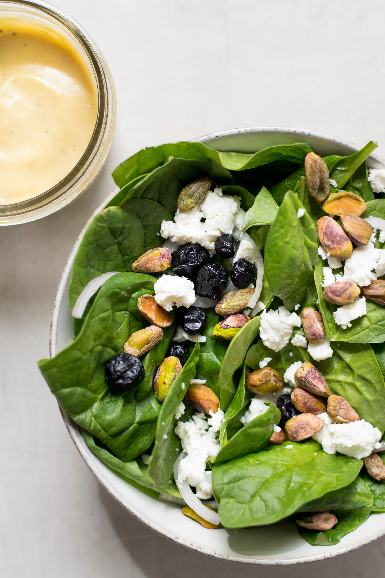 Spinach Salad with Maple Dijon Dressing