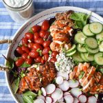 Grilled Buffalo Chicken Salad with Blue Cheese Dressing