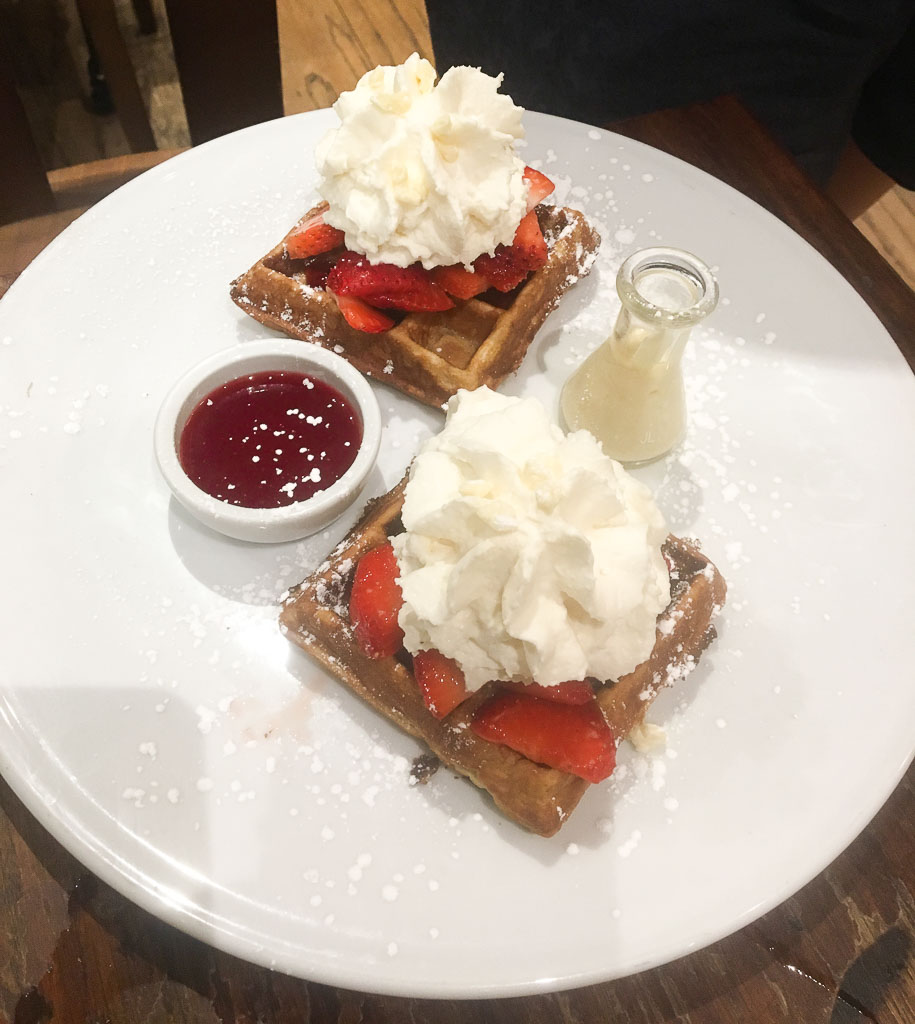 New York City Max Brenner Waffles