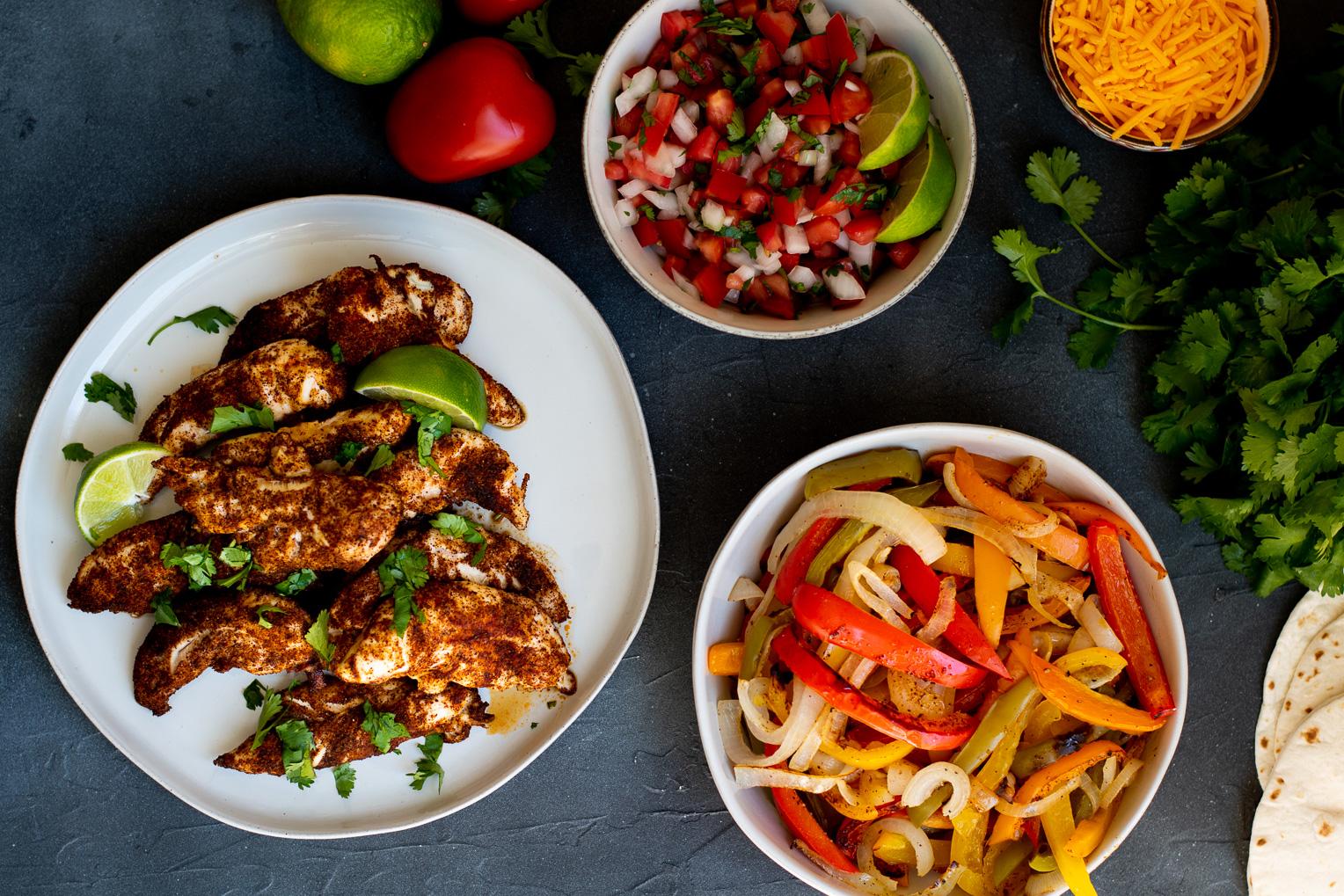 Sheet Pan Chicken and Bell Pepper Fajitas