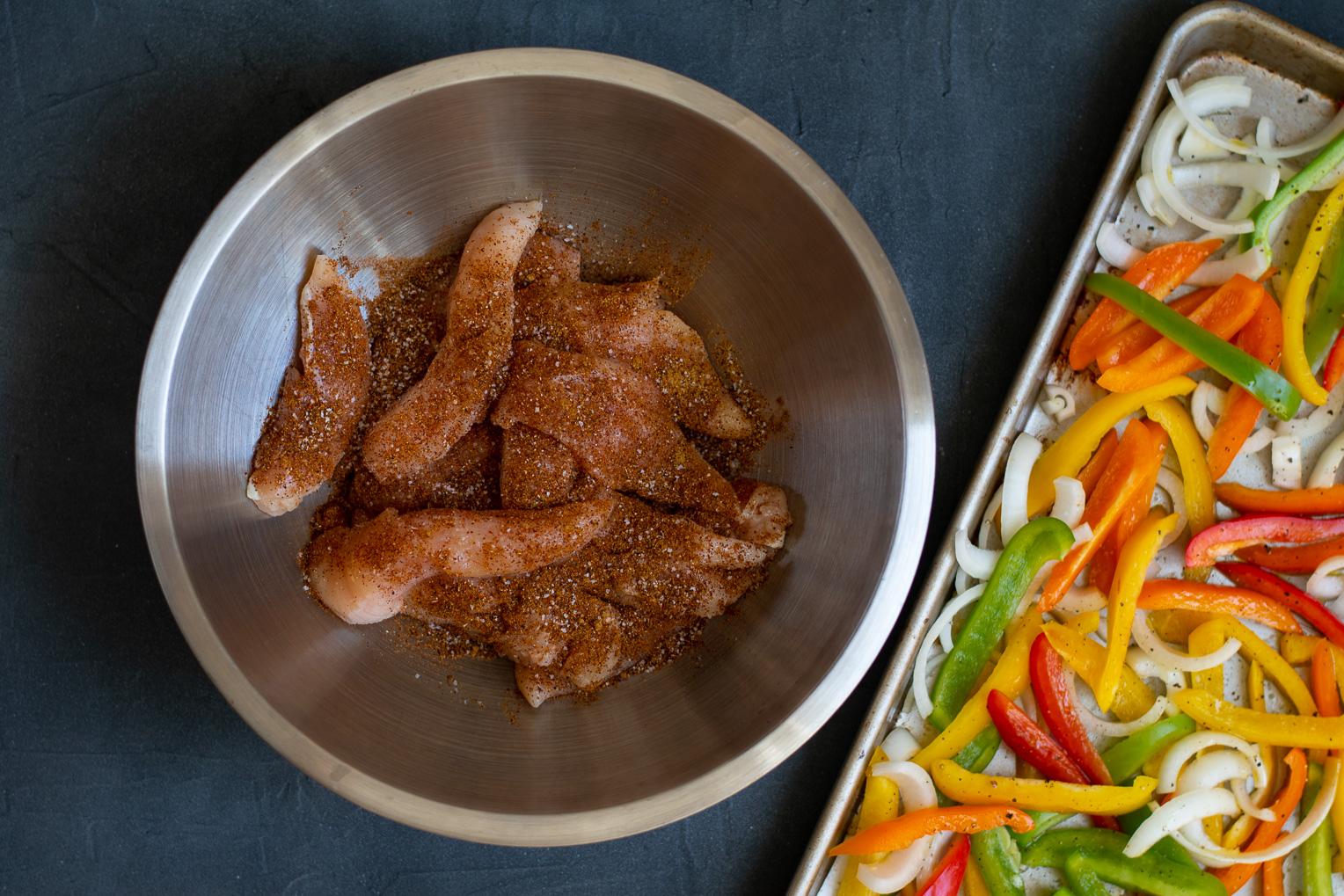 Sheet Pan Chicken and Bell Pepper Fajitas-1