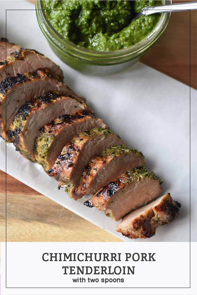 This Chimichurri Pork Tenderloin is the perfect easy weeknight meal! #chimichurri #porktenderloin #dinnertonight