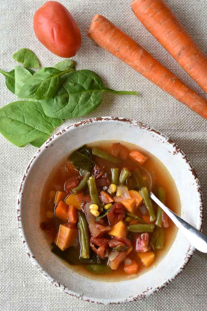 Garden Vegetable Soup with vegetables