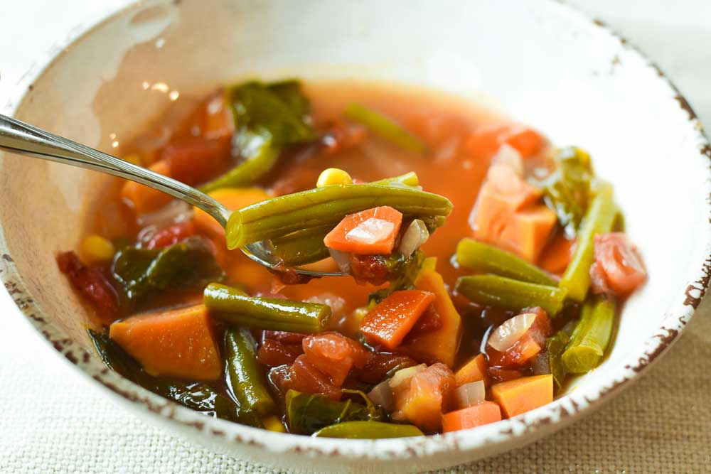 Garden Vegetable Soup bright bowl