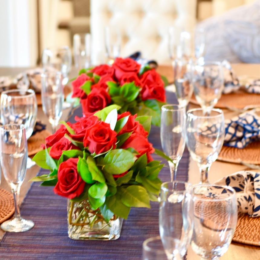 Tablescape photo with roses