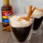 Bourbon Salted Caramel Coffee with Whipped Cream #ChristmasSweetsWeek