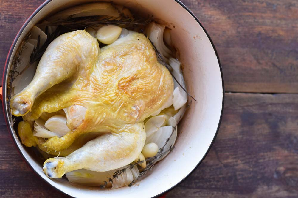 Roasted Chicken in a Dutch Oven