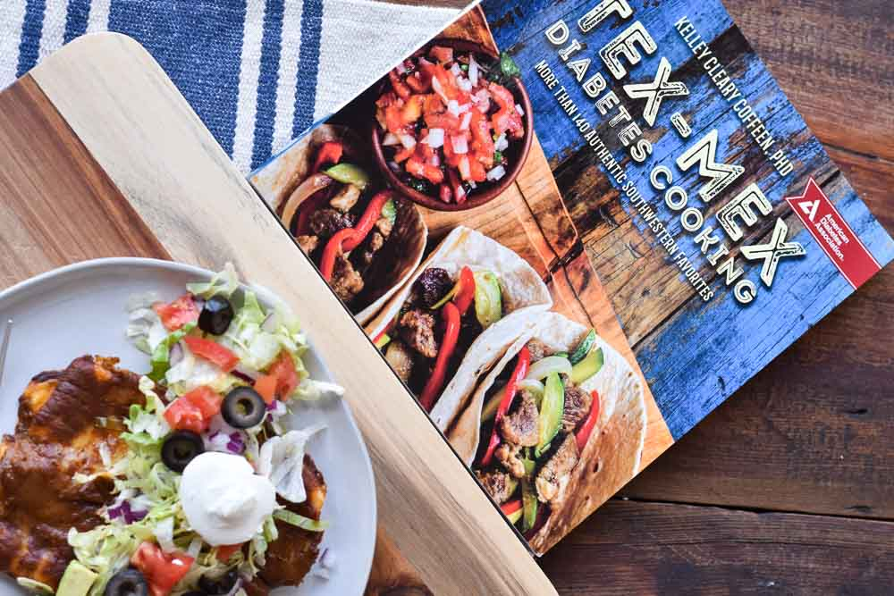 Friday Five: My Five Must Have Favorite Cookbooks. Tex Mex Diabetes Cooking with an enchilada.