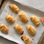 Apple Cinnamon Crescent Rolls with Dulce de Leche