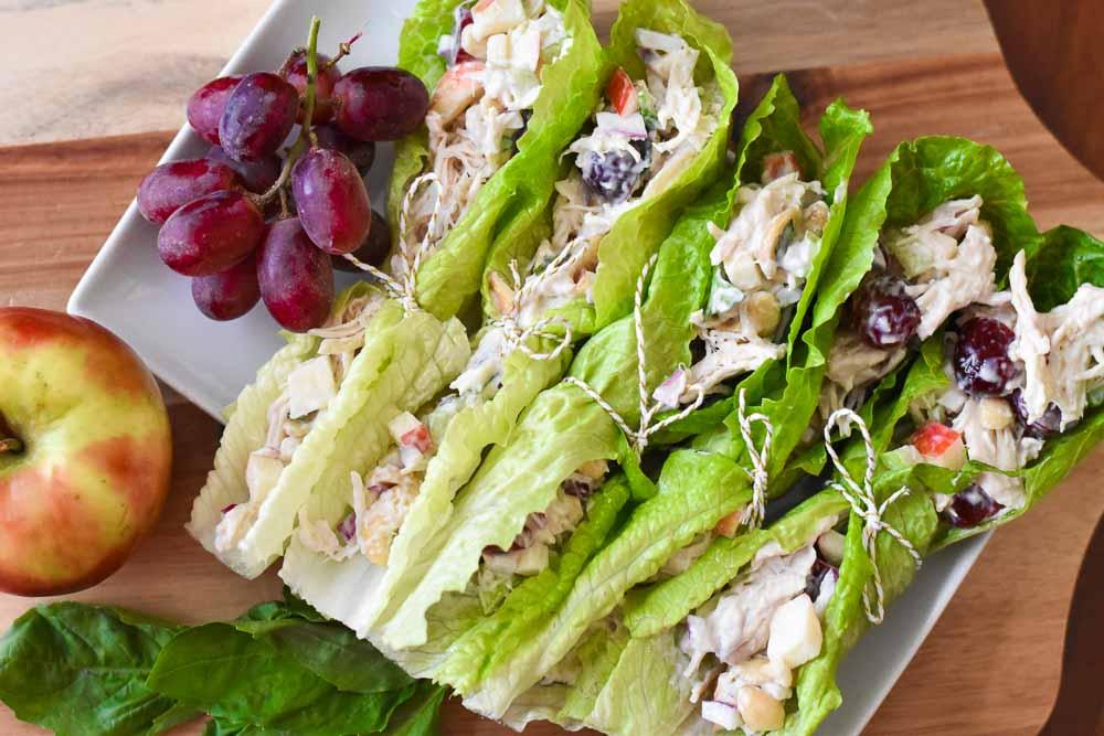 Waldorf Chicken Salad Wraps