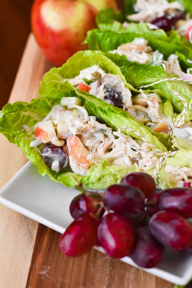 Waldorf Chicken Salad Wraps