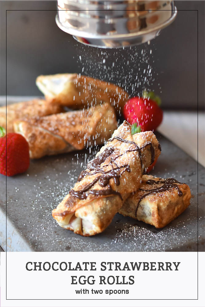 Chocolate Strawberry Egg Rolls