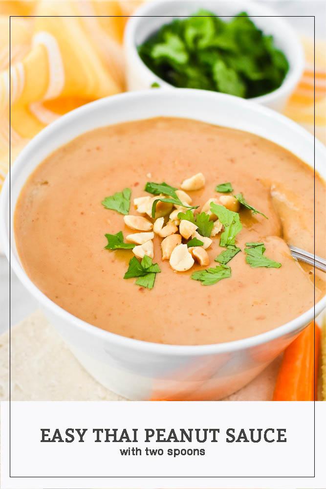 Easy Thai Peanut Sauce Pinterest Photo