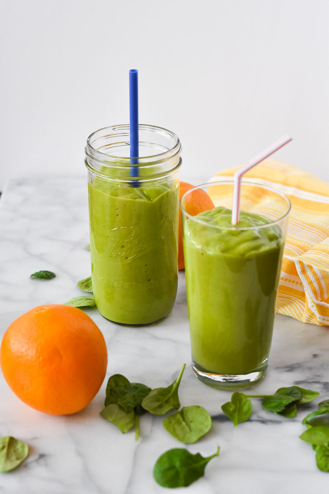 Sunshine Smoothie in two glasses