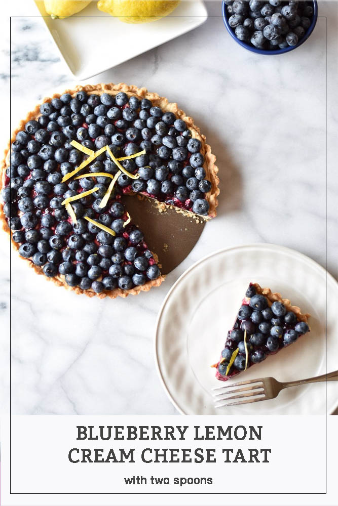 Blueberry Lemon Cream Cheese Tart Pinterest Photo