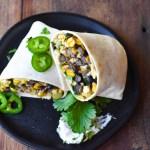 Summer Vegetable Breakfast Burritos