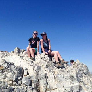 Physical Fitness my daughter and I on top of Piestewa Peak