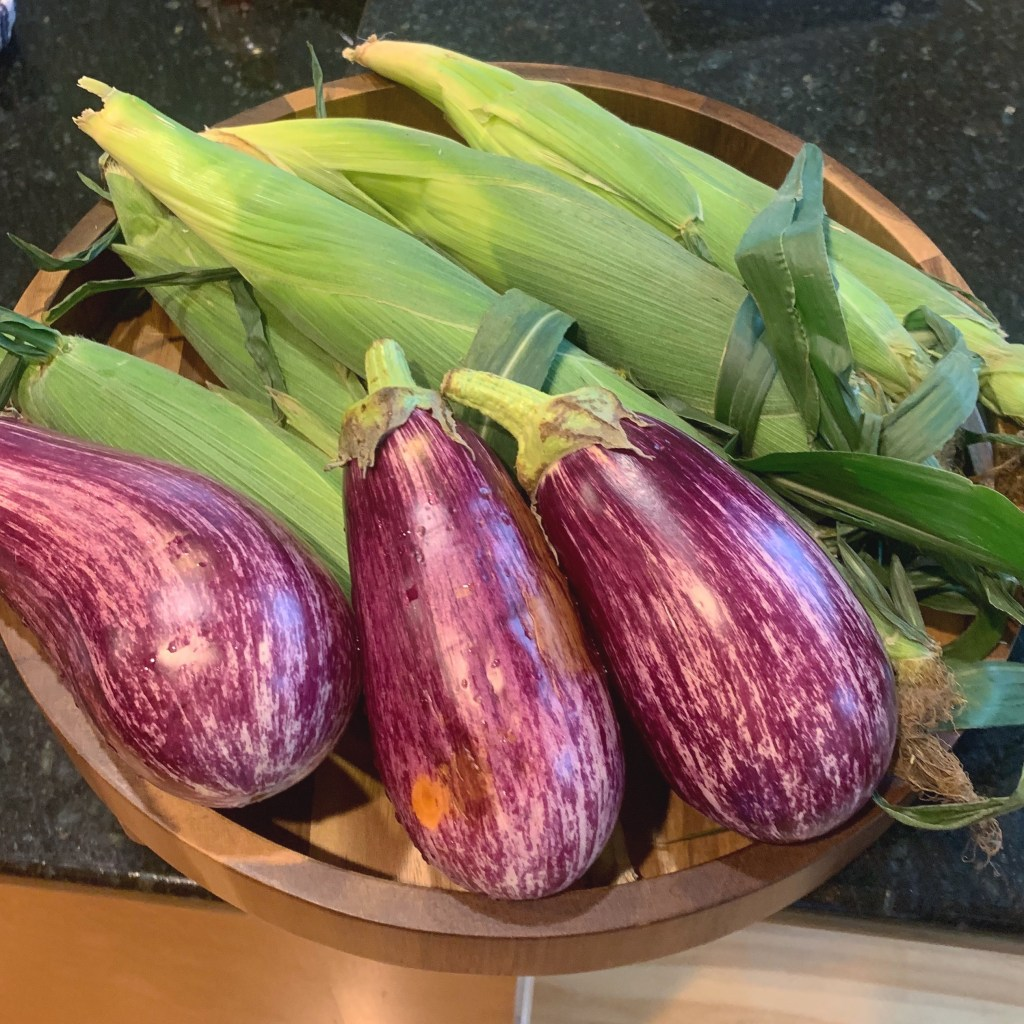 Eggplants for Baba Ghanoush