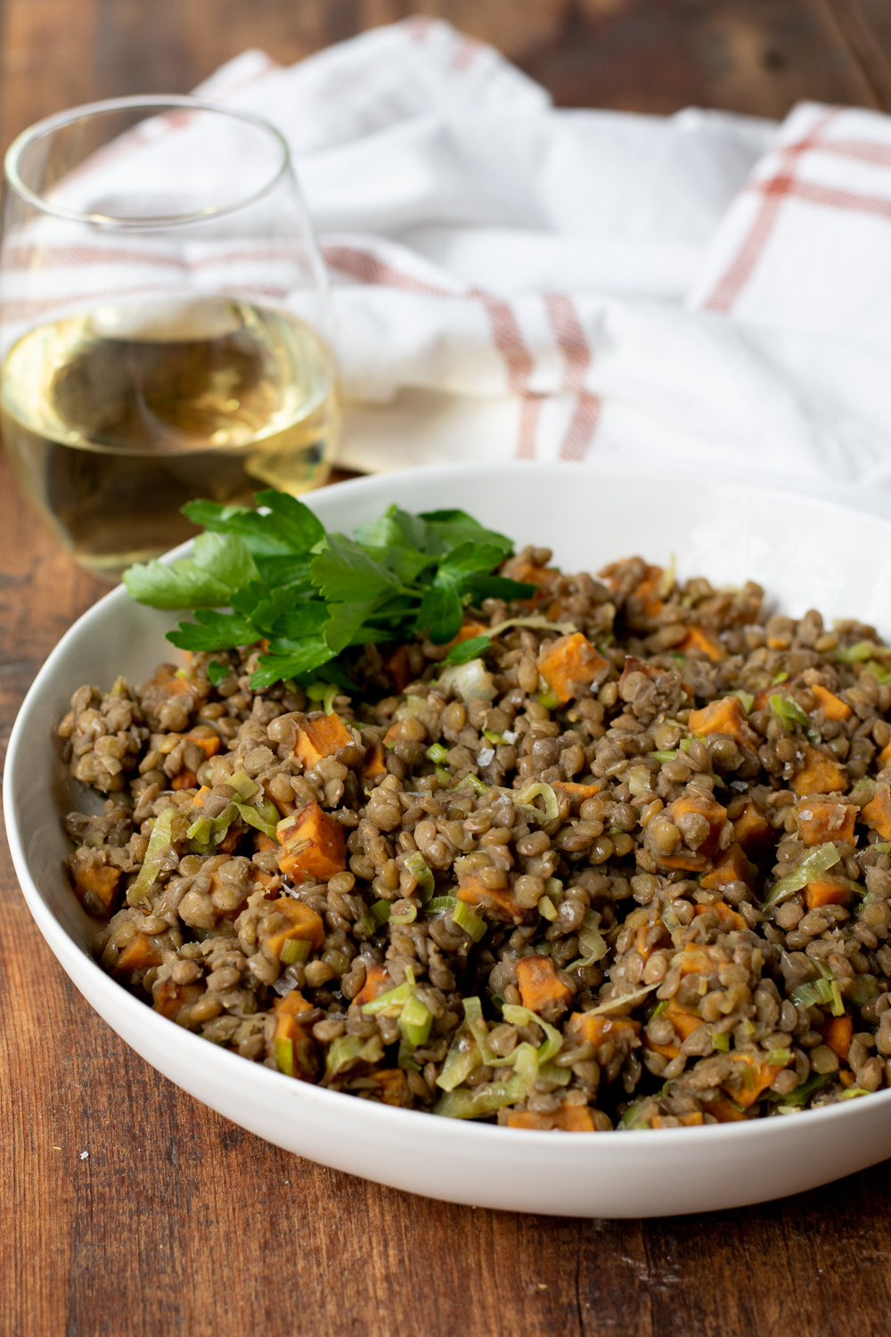Lentil Salad with Roasted Root Vegetables