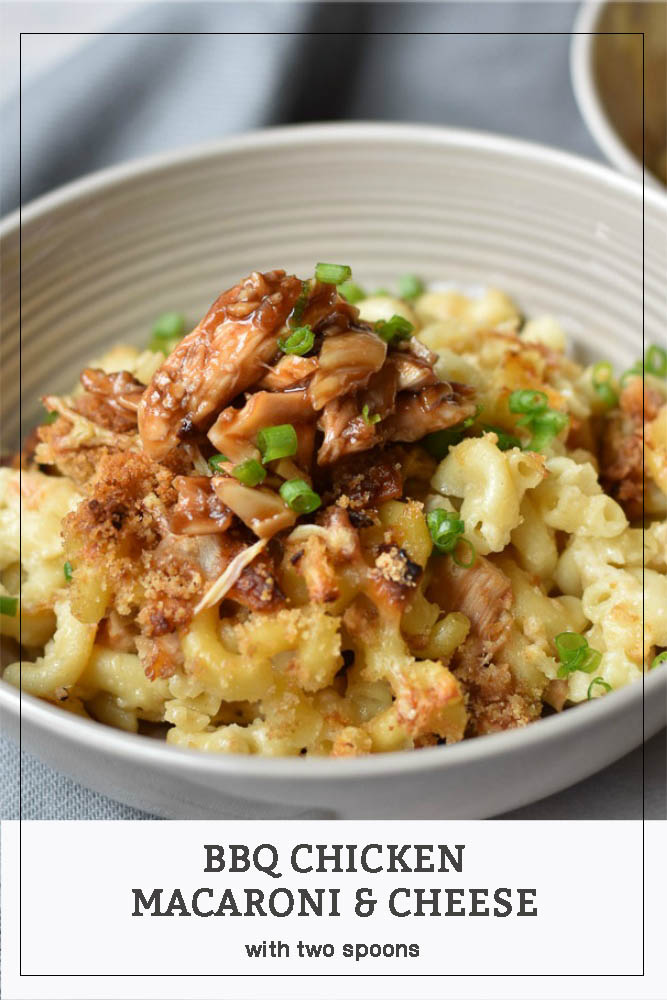 BBQ Chicken Macaroni and Cheese in a bowl