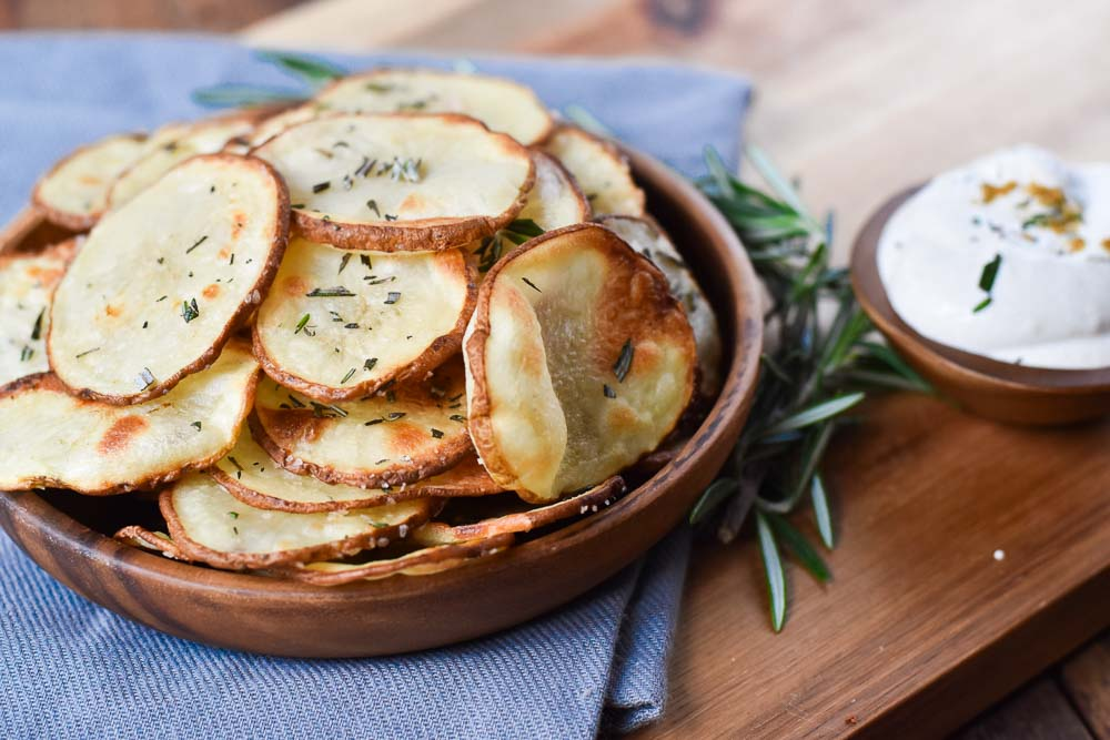 Lemon Rosemary Potatoes in a bowl