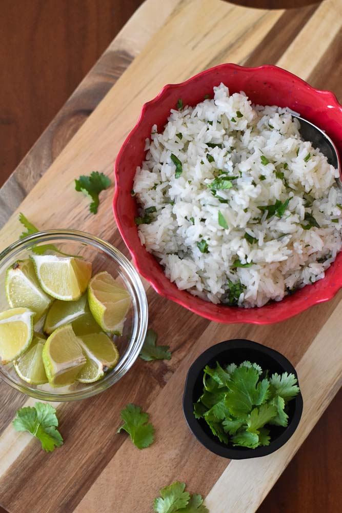 A bowl of Instant Pot Chipotle Lime Rice