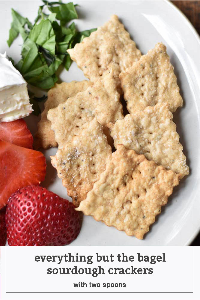 Everything but the Bagel Sourdough Crackers Pinterest Pin