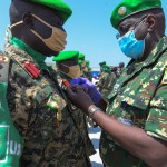 Ugandan troops get AU medals for contribution to Somalia's stability