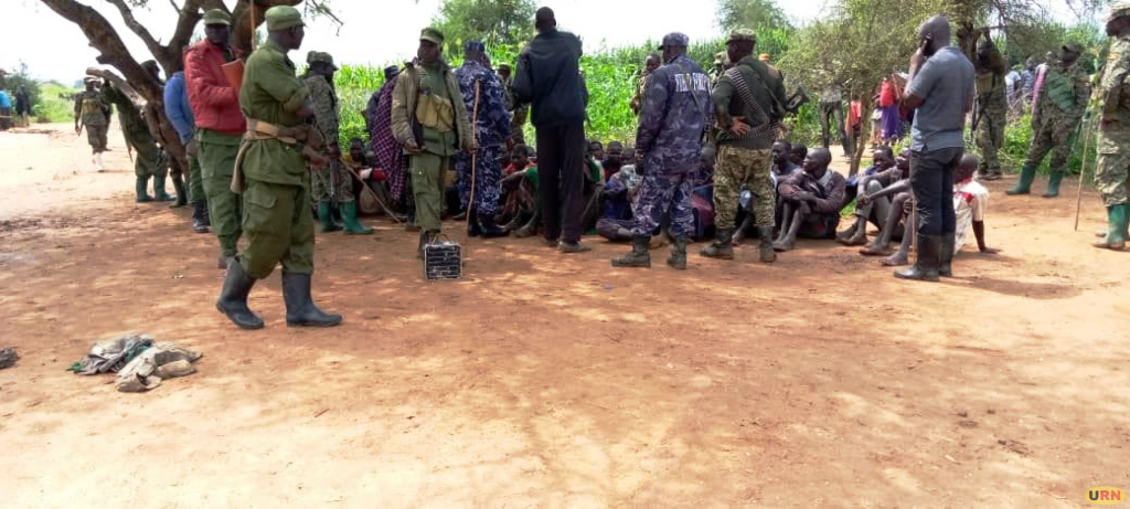 suspected cattle rustlers on Monday during cordon and search operations in Kotido district